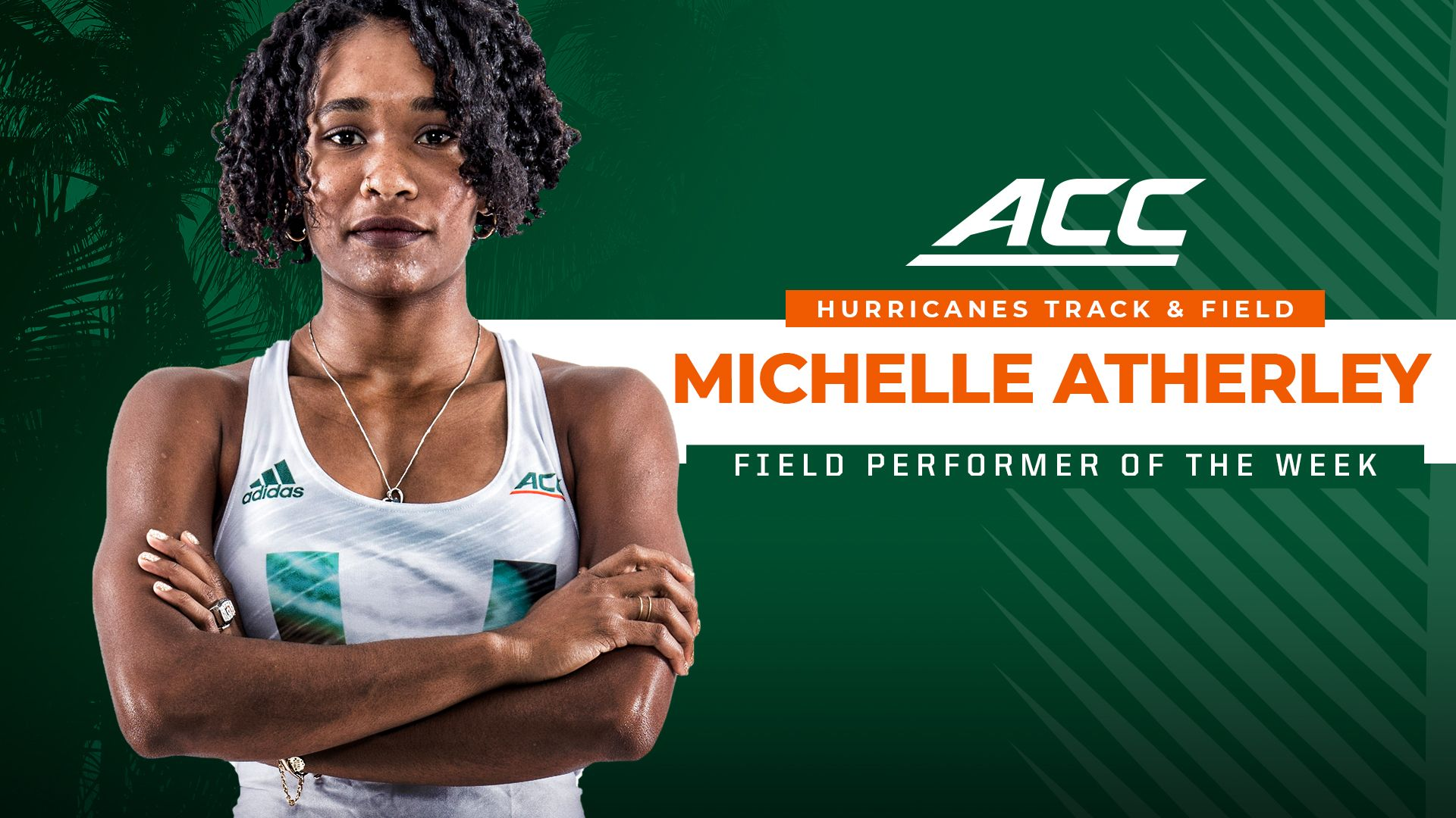 Atherley Wins ACC Field Performer of the Week