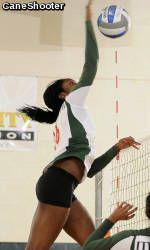 Miami Volleyball Sweeps North Carolina Road Trip