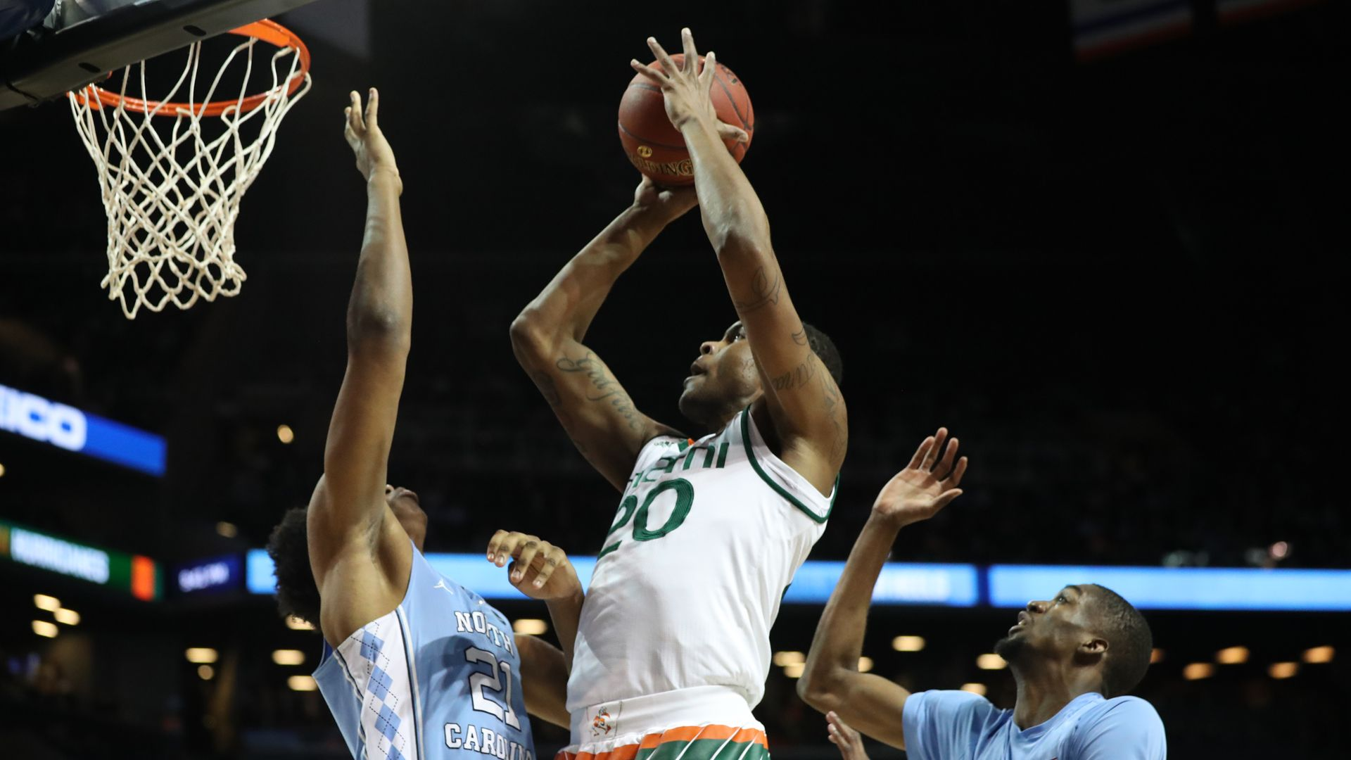 Canes Fall to UNC, 82-65, in ACC Tourney Quarterfinal