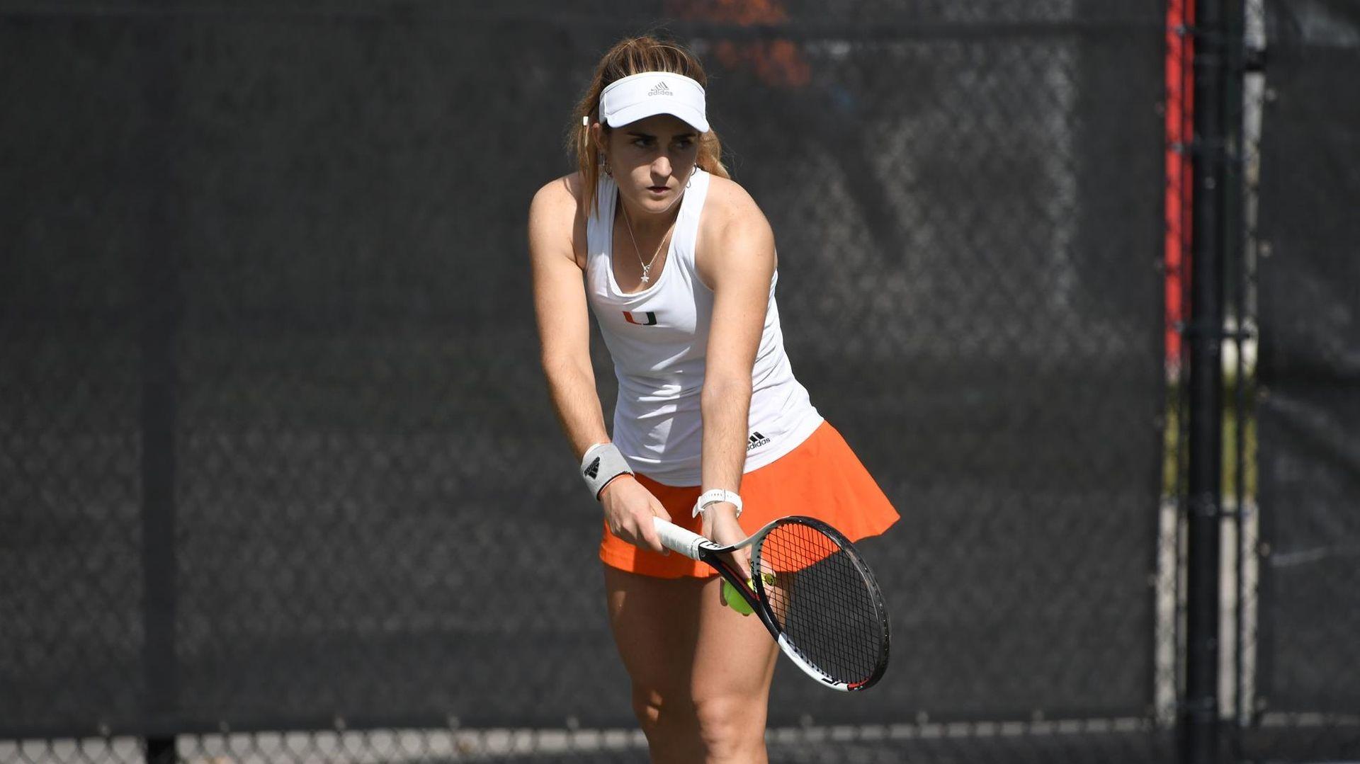 W. Tennis Dominates Singles to Top No. 23 Tulsa, 4-1