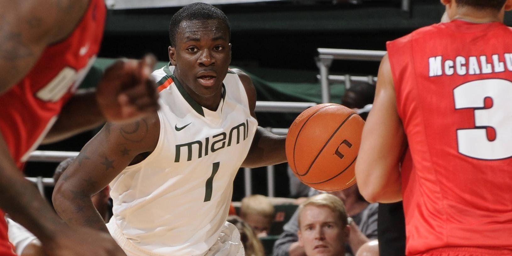 Scott Scores 15 in Miami's 77-62 Win