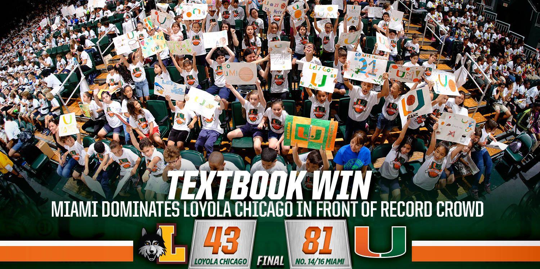 @CanesWBB Defeats Loyola Chicago, 81-43