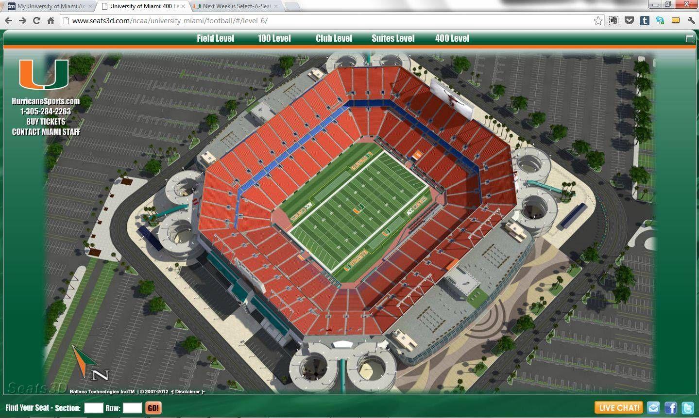 UM Launches Virtual Stadium With Seats3D.com