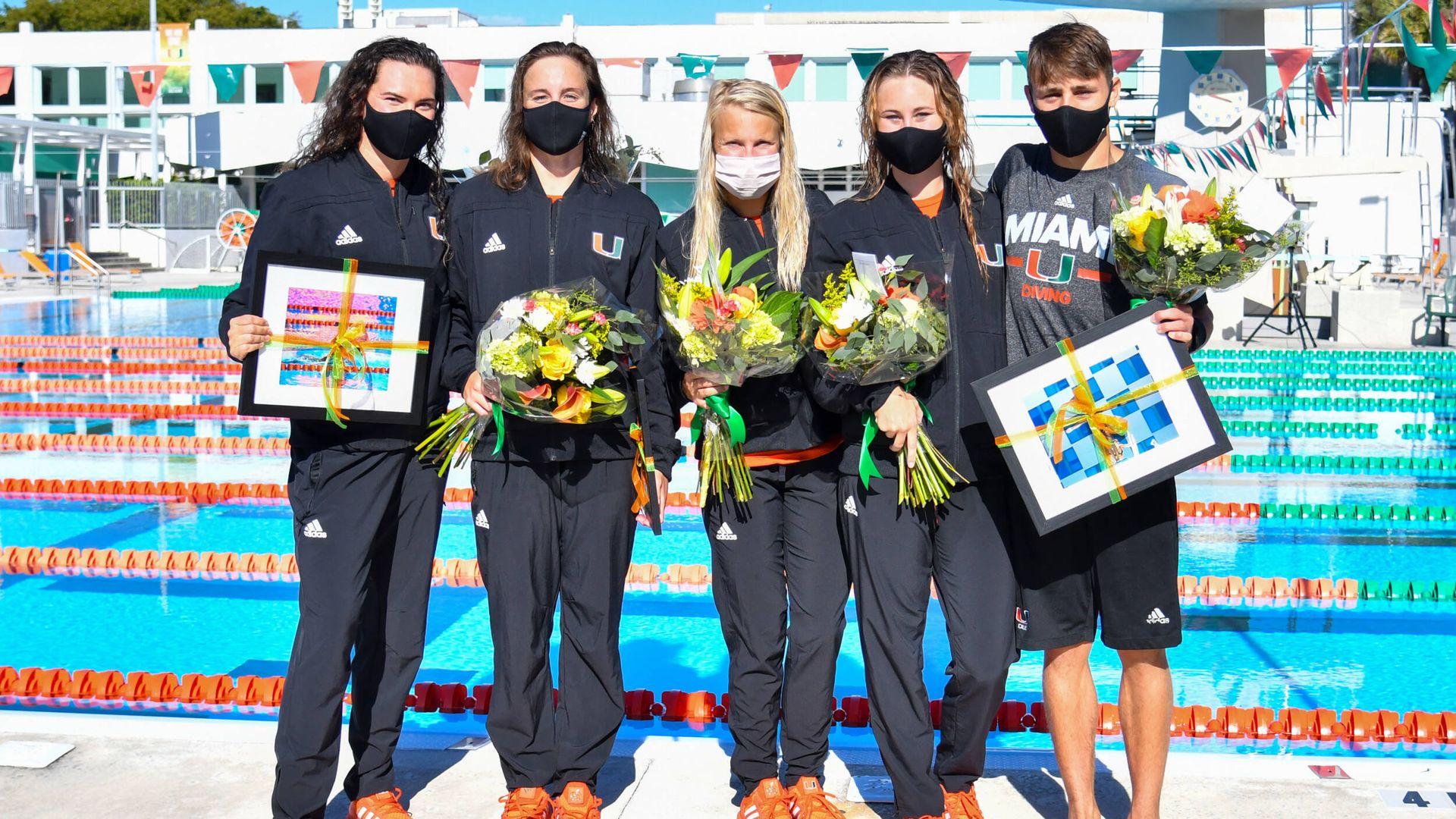Special Swim/Dive Senior Class Honored