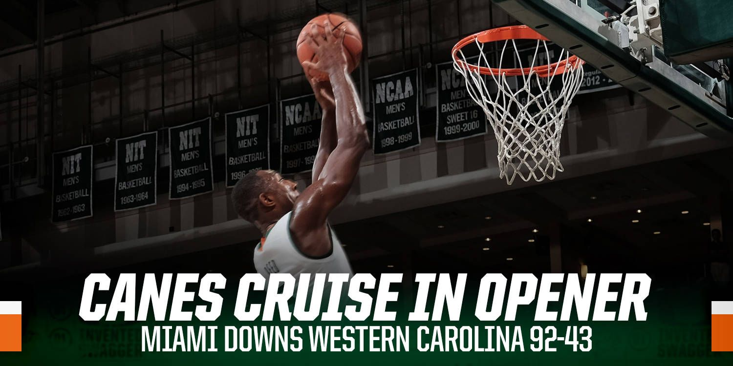 Canes Cruise to 92-43 Opening Night Victory