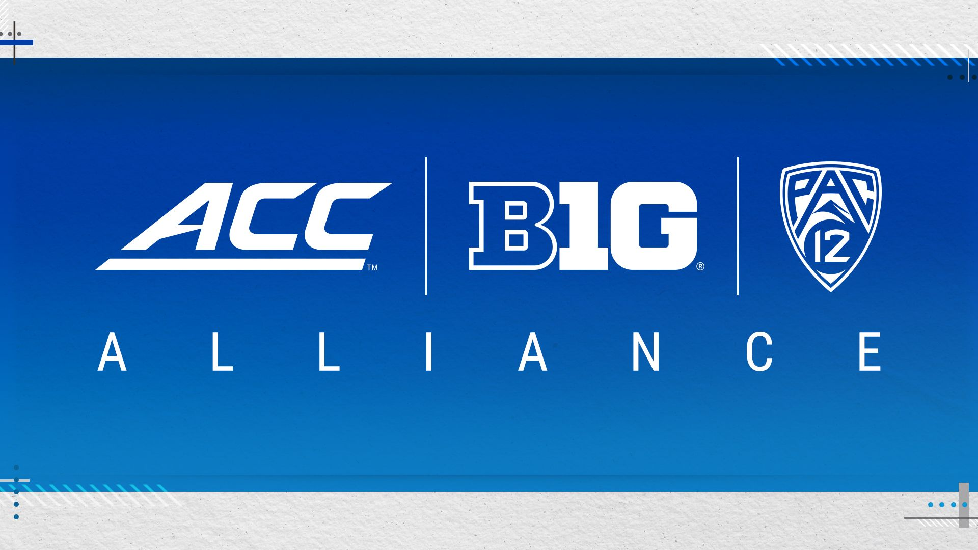 ACC, Big Ten and Pac-12 Announce Historic Alliance