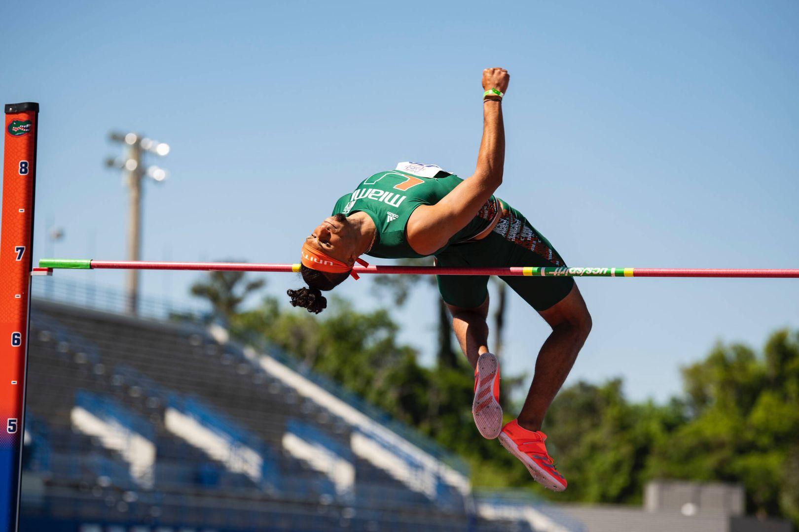 Holmes Cracks Miami All-Time High Jump List
