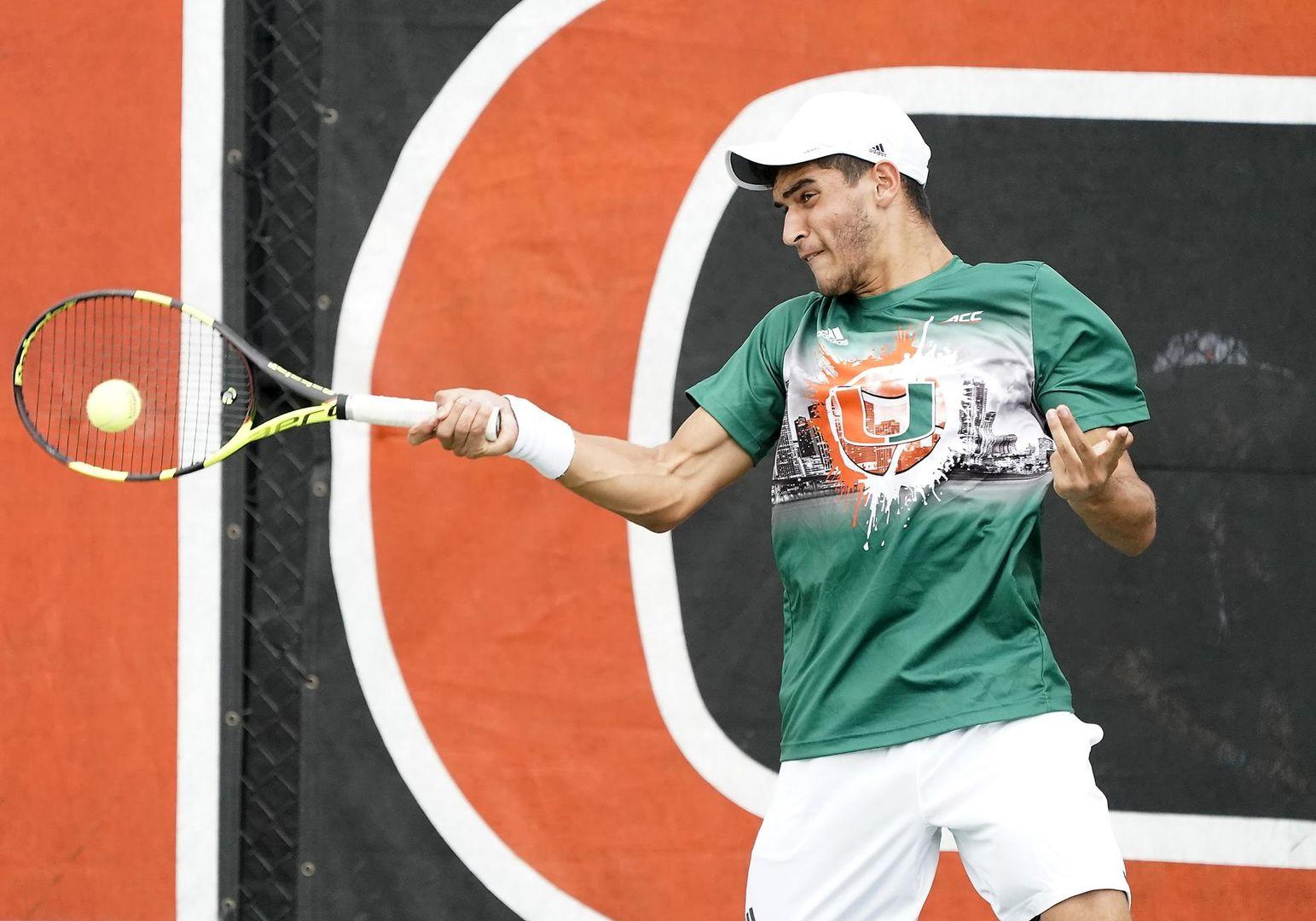 No. 43 Men's Tennis Falls at Virginia Tech