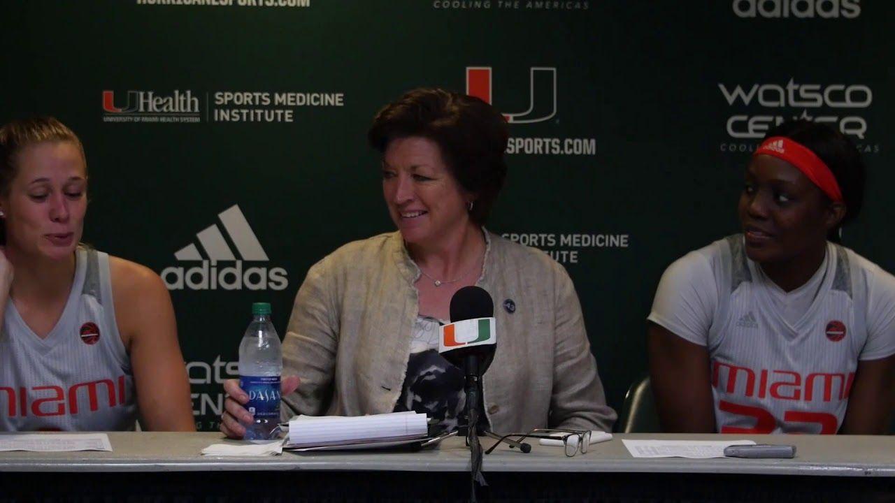 Coach Katie Meier, Laura Cornelius & Beatrice Mompremier   Post Game Presser vs. UNC
