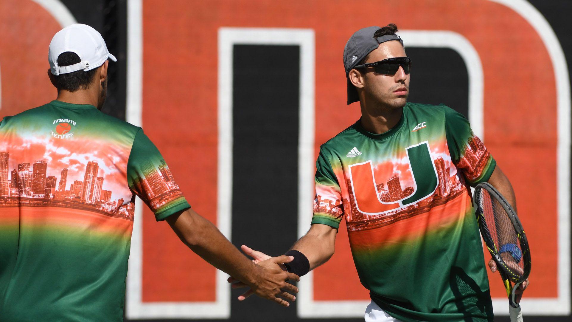 Men's Tennis Wraps up First Day of Miami Spring Invite