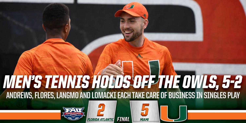 Miami Takes Care of Business against FAU
