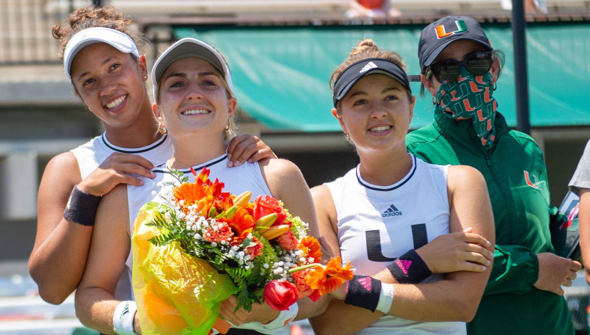 W. Tennis Downs Florida Atlantic, 6-1, on Senior Day
